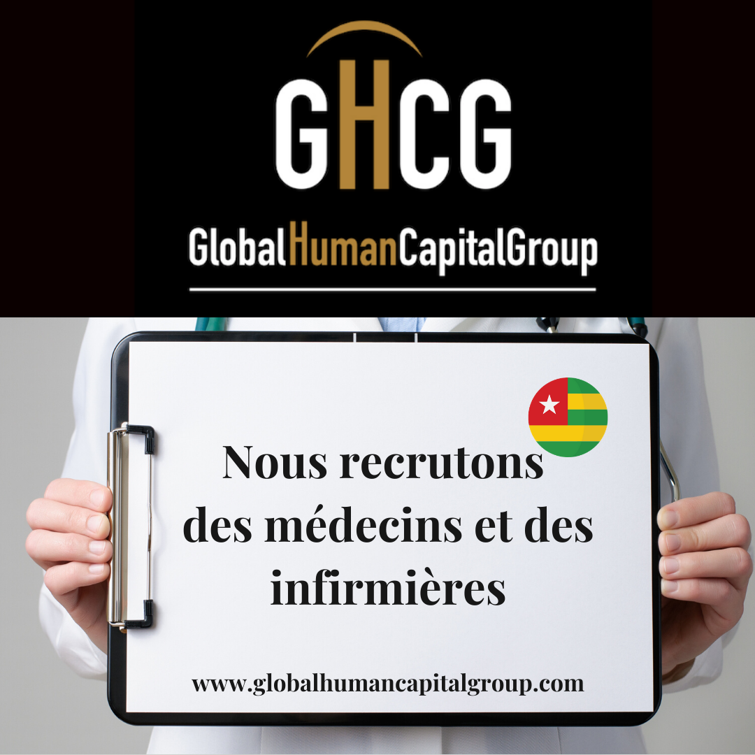 Global Human Capital Group gestiona ofertas de empleo sector sanitario: Doctores y Doctoras en Togo, ÁFRICA.